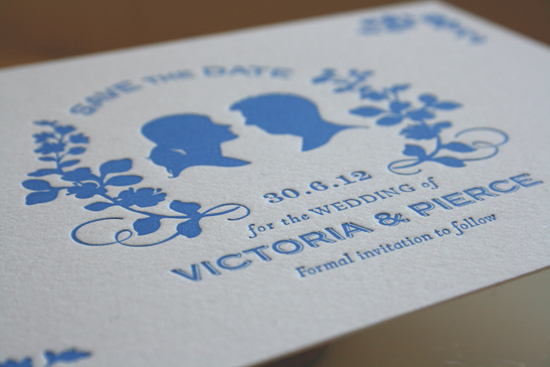 Blue Silhouette Save the Date