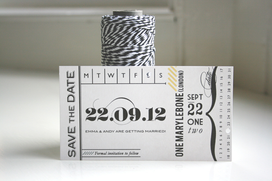 Save the Date Wedding Ticket