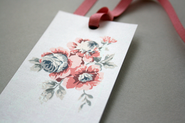 Vintage Floral Bookmark Place Card