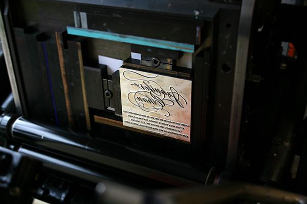 Emma Jo letterpress printing