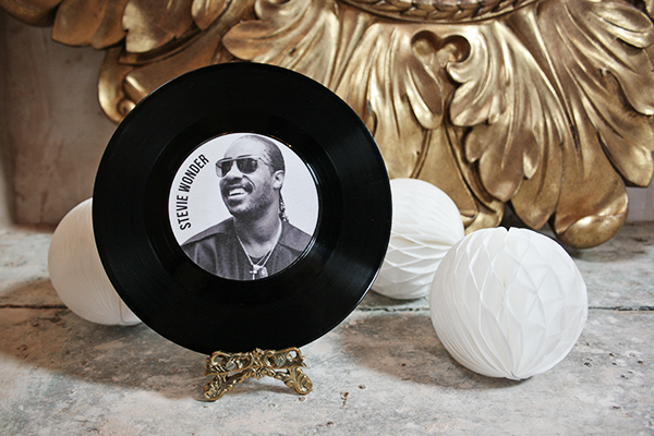 music vinyl record wedding table name